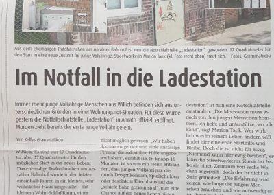 Foto des Zeitungsartikel über die Eröffnung der Ladestation