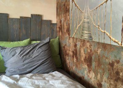 Bett in der Ladestation