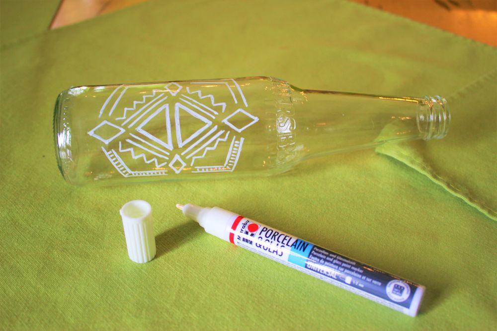 Hippie Flaschen - 4 Malen