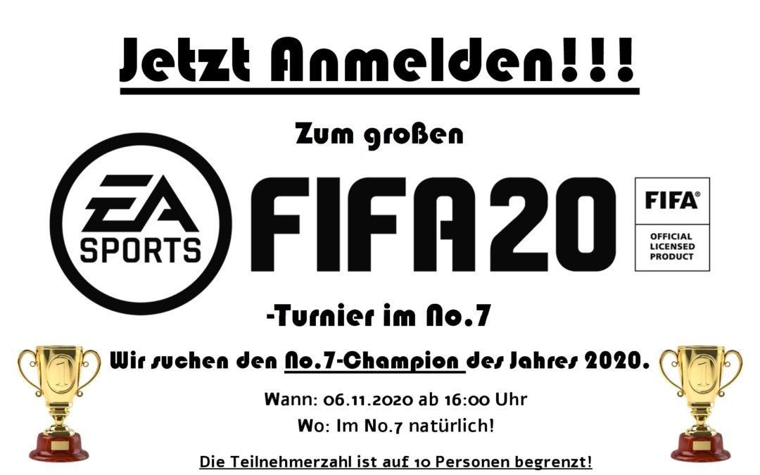 FIFA20-Turnier am 06.11.2020