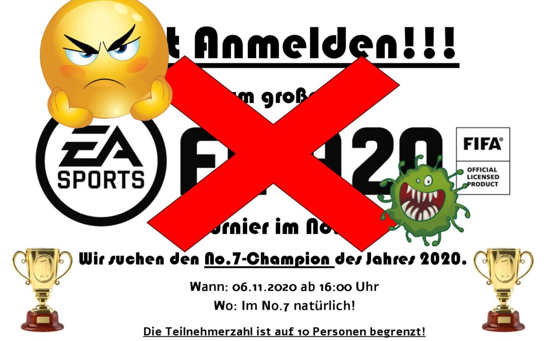 FIFA20-Turnier am 06.11.2020 fällt aus!